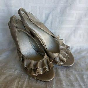 Exhilaration slingback heels